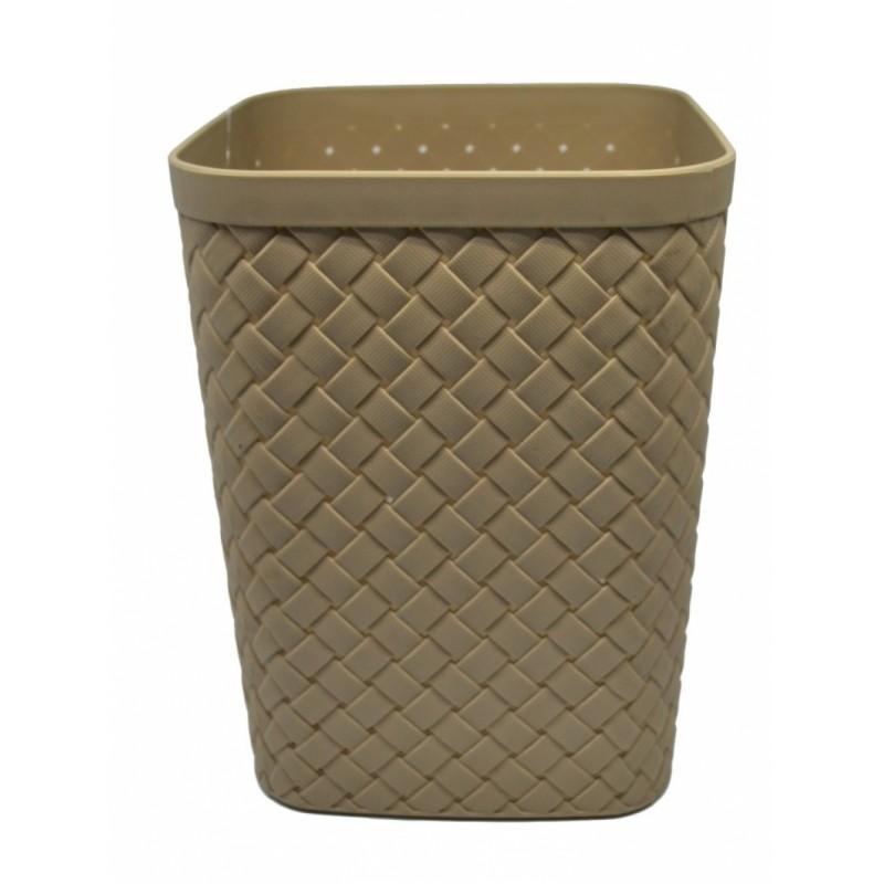 Καλάθι απλύτων πλαστικό σε μπεζ χρώμα 20x20x26