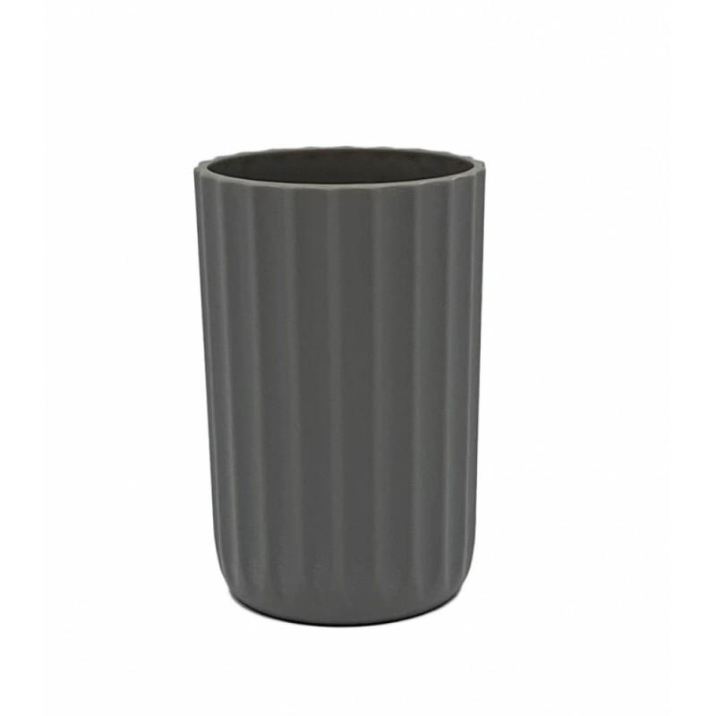 Ποτηροθήκη πλαστική σε γκρι χρώμα 7,5x12
