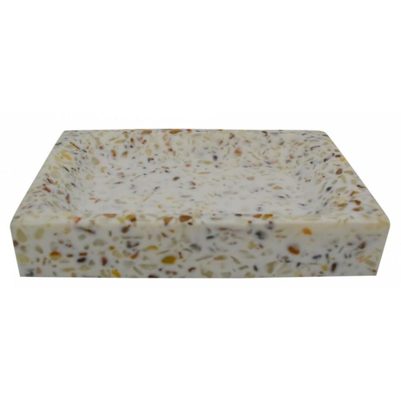 Σαπουνοθήκη πολυστερική με εφέ μωσαϊκού 12,5x8,6x2