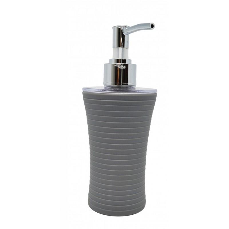 Σαπουνοθήκη dispenser πλαστικό σε γκρι χρώμα 7x7x18