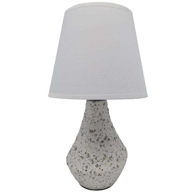 Επιτραπέζιο φωτιστικό κεραμικό σε λευκό χρώμα 17x17x29