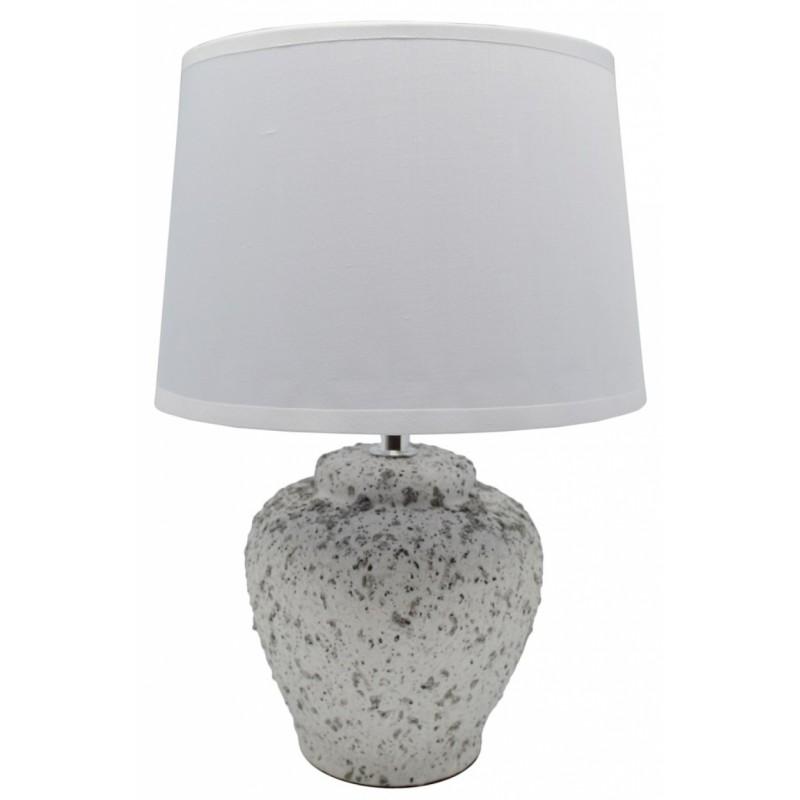Επιτραπέζιο φωτιστικό κεραμικό σε λευκό χρώμα 20x20x29