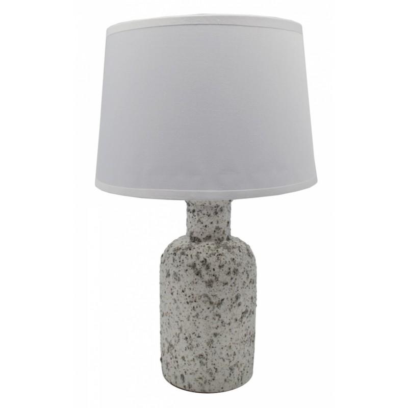 Επιτραπέζιο φωτιστικό κεραμικό σε λευκό χρώμα 20x20x32