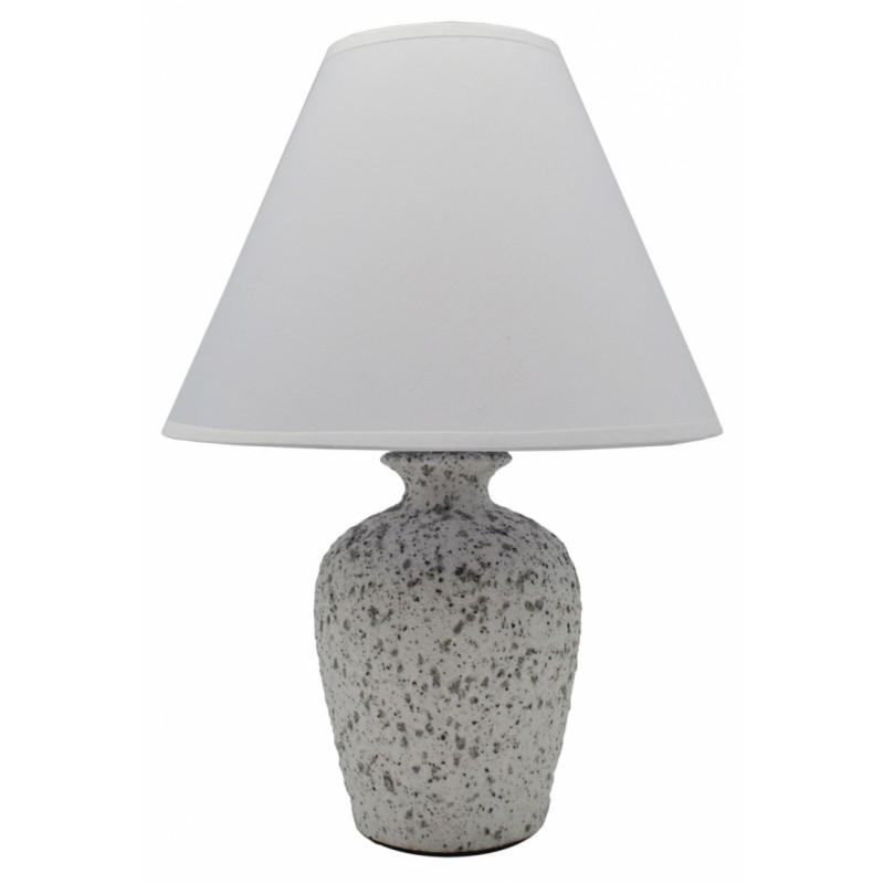 Επιτραπέζιο φωτιστικό κεραμικό σε λευκό χρώμα 22,5x22,5x32