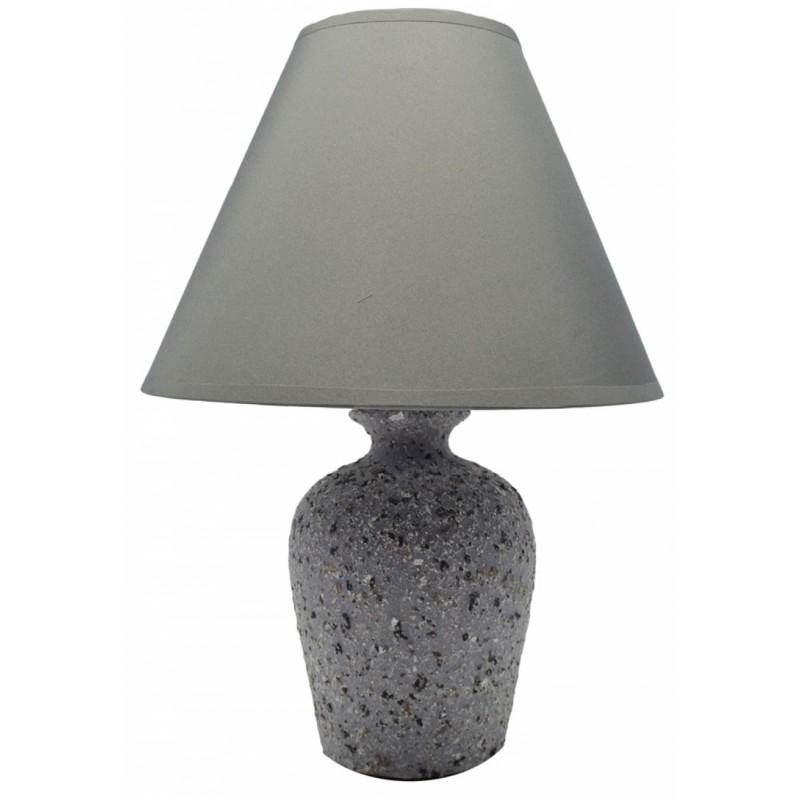 Επιτραπέζιο φωτιστικό κεραμικό σε γκρι χρώμα 22,5x22,5x32