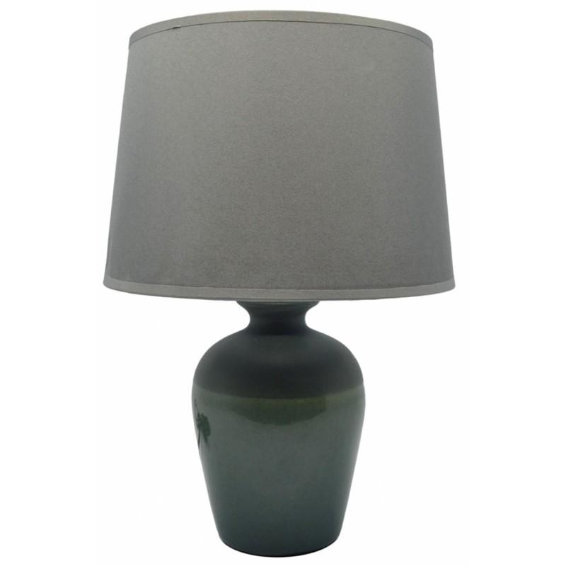 Επιτραπέζιο φωτιστικό κεραμικό σε γκρι χρώμα 20x20x29