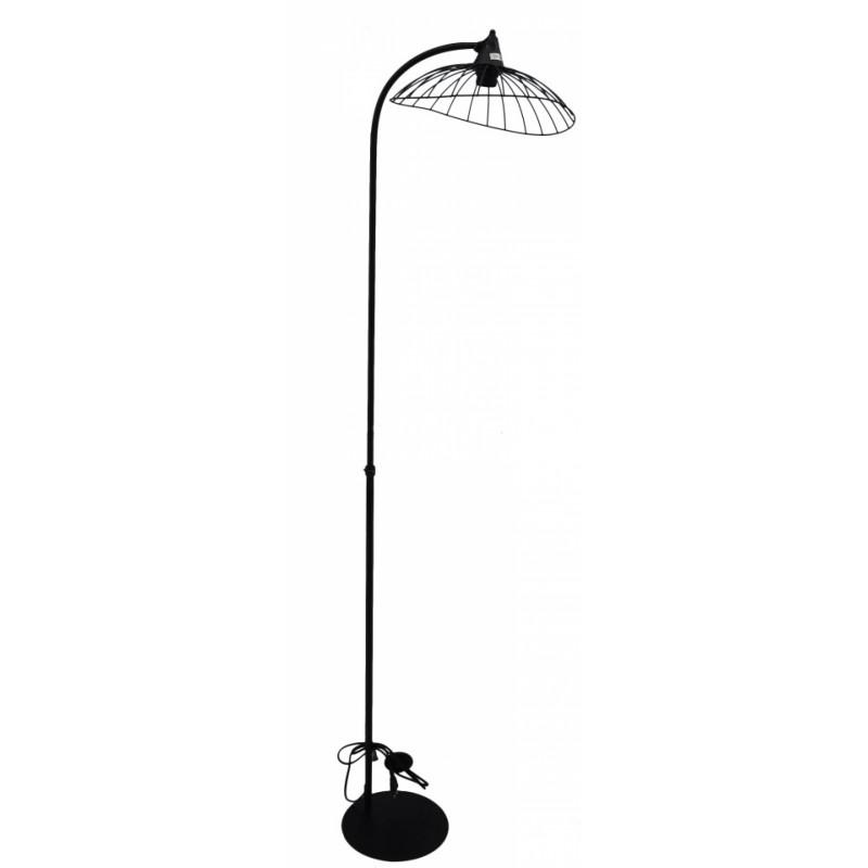 Φωτιστικό δαπέδου μεταλλικό σε μαύρο χρώμα 43x35x143