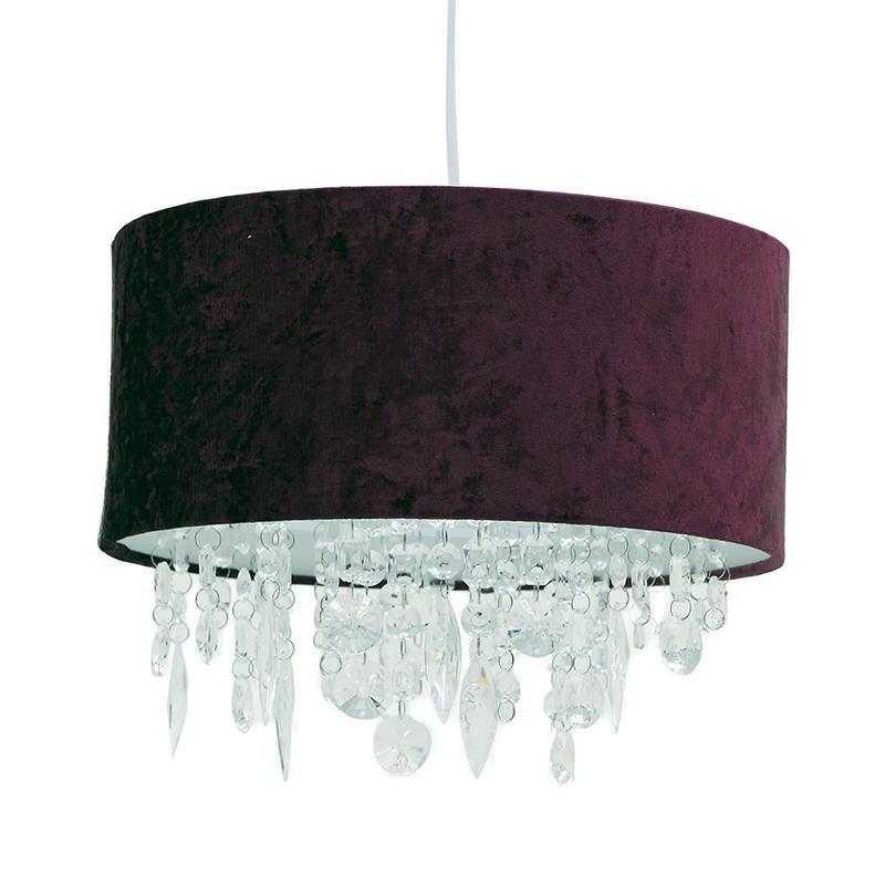 Φωτιστικό οροφής υφασμάτινο σε σκούρο κόκκινο χρώμα 35x35x31