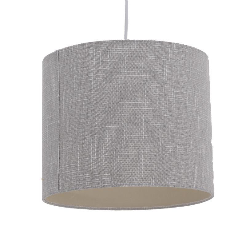 Φωτιστικό οροφής υφασμάτινο σε γκρι χρώμα 30x30x25