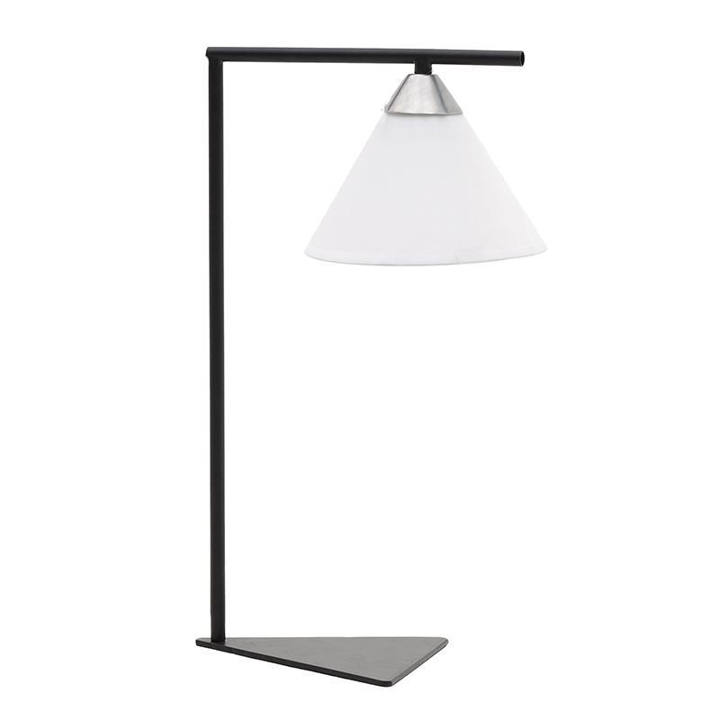 Επιτραπέζιο φωτιστικό μεταλλικό σε μαύρο χρώμα 18x25,5x45