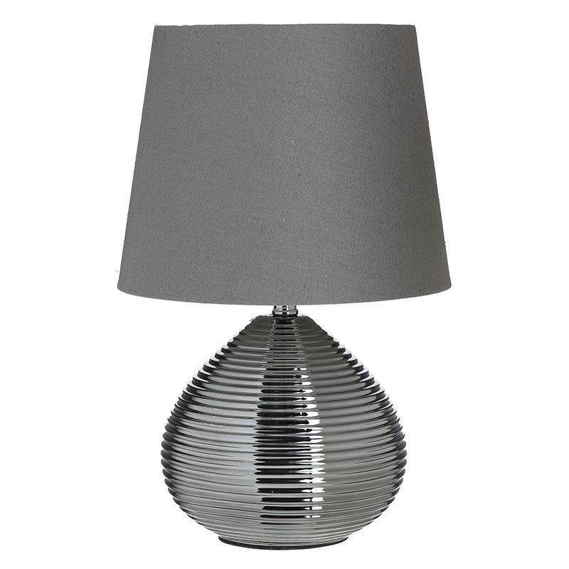 Επιτραπέζιο φωτιστικό κεραμικό σε γκρι/μαύρο χρώμα 23x23x36