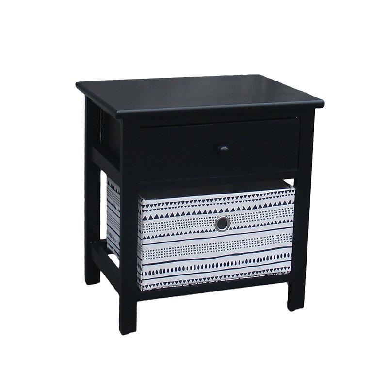 """Συρταριέρα """"INART"""" ξύλινη σε μαύρο χρώμα 40x29x42"""