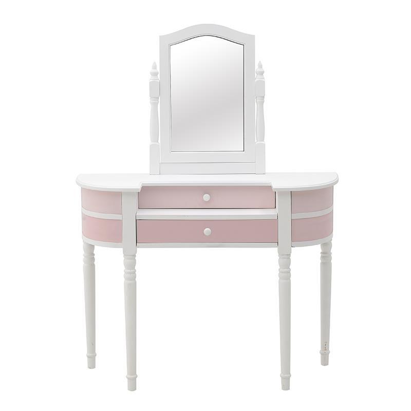 """Τουαλέτα """"INART"""" με καθρέπτη σε χρώμα ροζ-λευκό 105x40x139"""