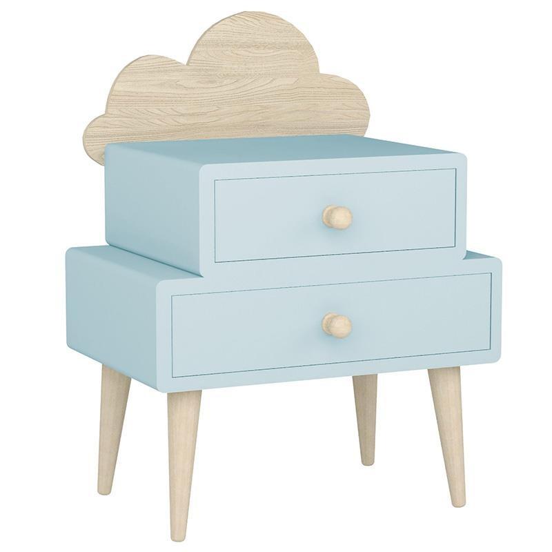 """Παιδικό κομοδίνο """"INART"""" από ξύλο σε χρώμα γαλάζιο/μπεζ 40x32x80"""