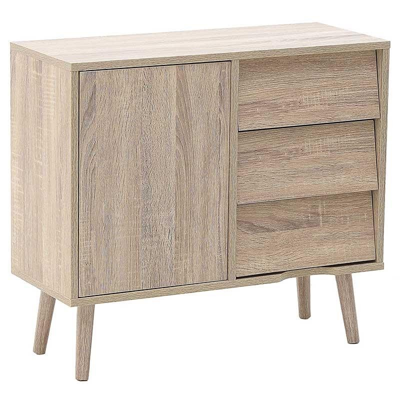"""Μπουφές συρταριέρα """"INART"""" από ξύλο σε χρώμα φυσικό 70x29x62"""