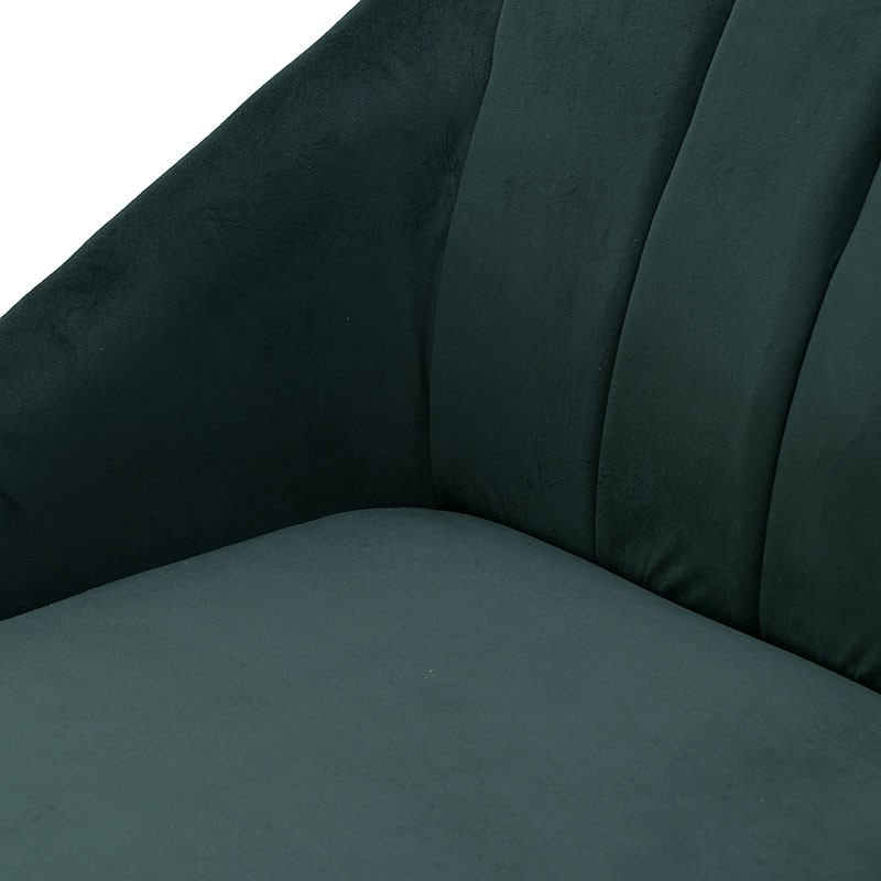 Aνάκλινδρο βελούδινο σε κυπαρισσί χρώμα 125x65x76