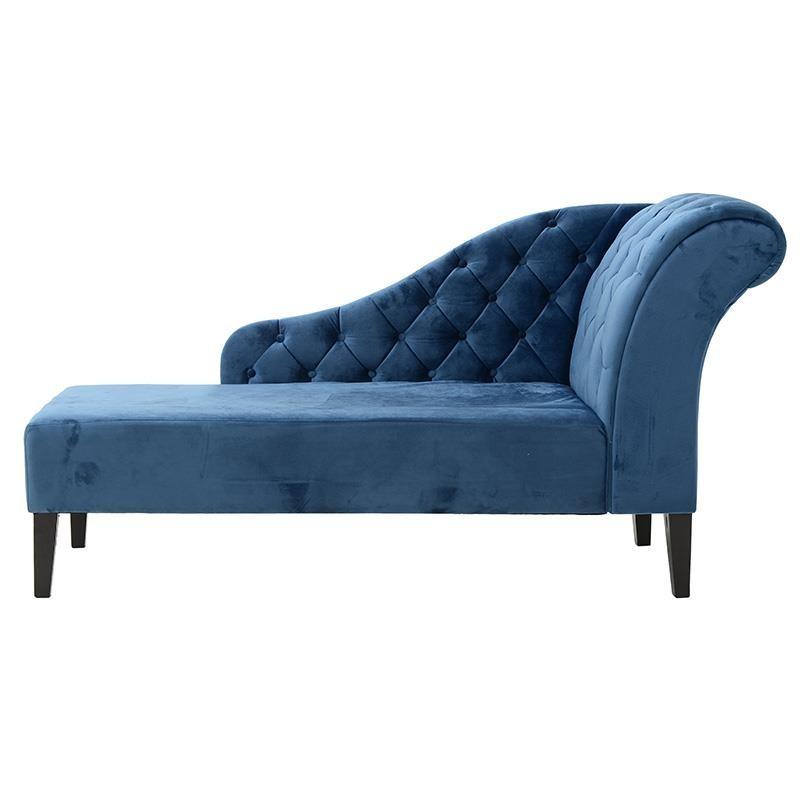 Aνάκλινδρο βελούδινο σε μπλε χρώμα 170x90x60