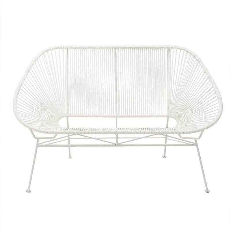 Καναπές εξωτερικού χώρου από pvc σε λευκό χρώμα 145x80x90