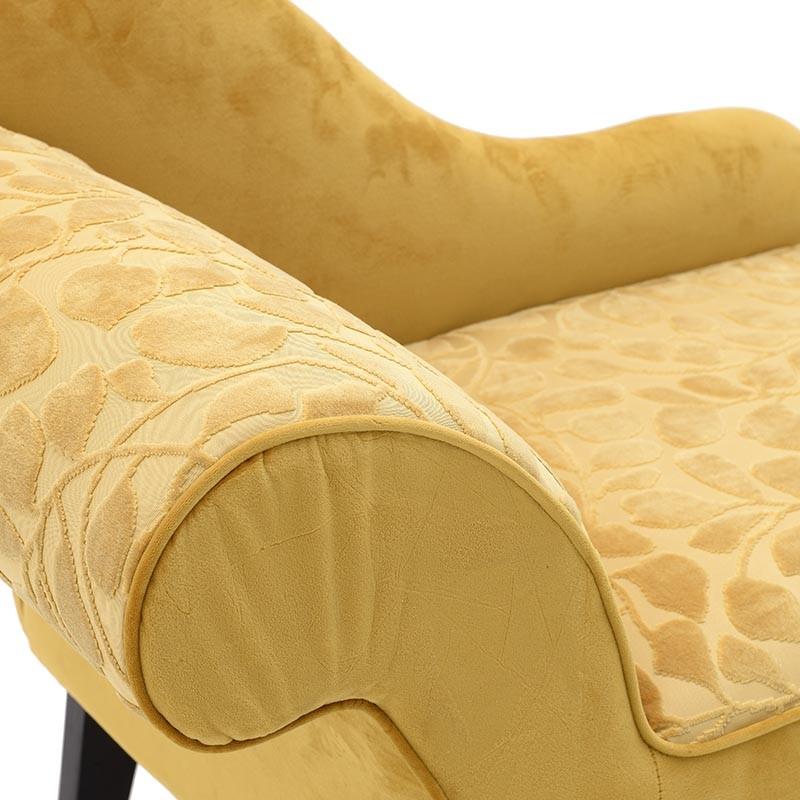 Aνάκλινδρο βελούδινο σε κίτρινο χρώμα 119x55x76