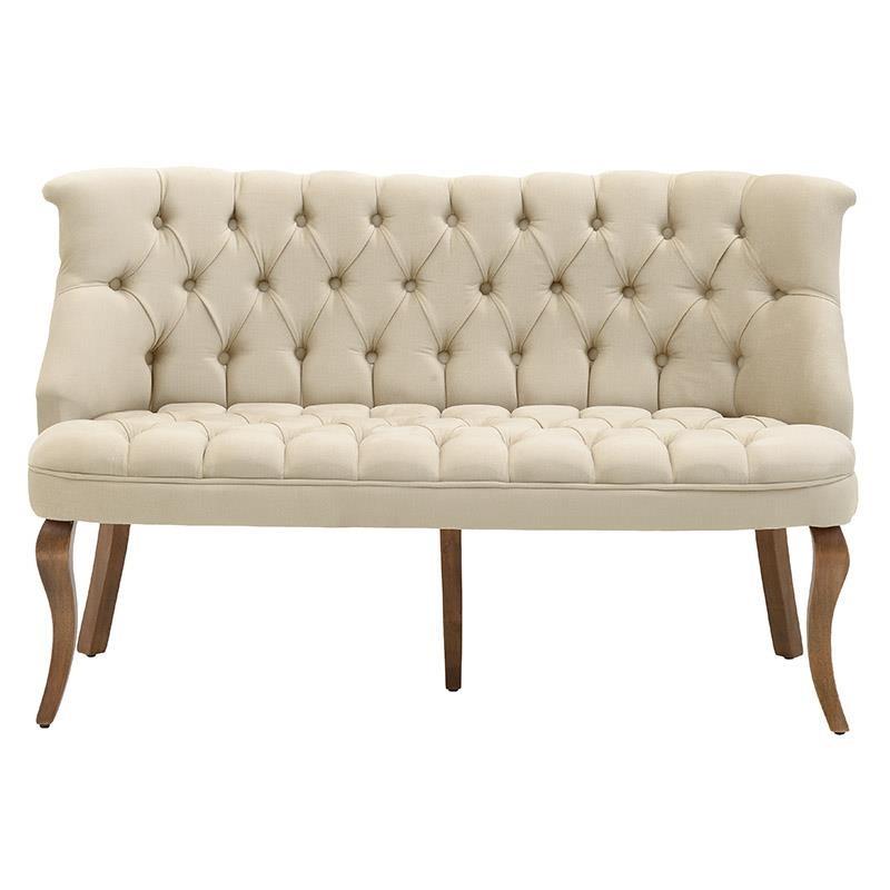 Καναπές διθέσιος υφασμάτινος σε μπεζ χρώμα 127x68x78