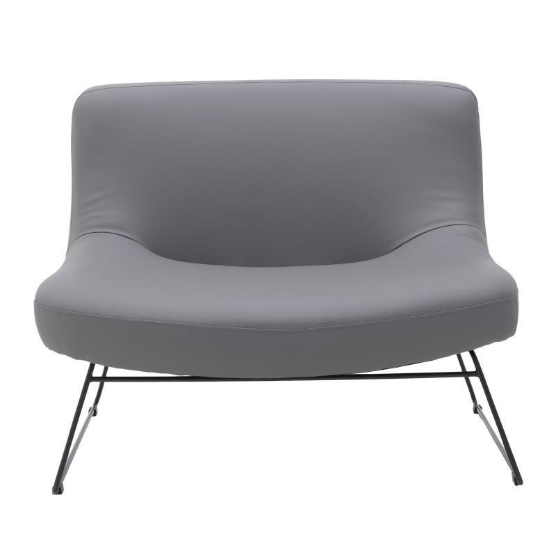 Καναπές διθέσιος από pu σε γκρι χρώμα 101x84x80