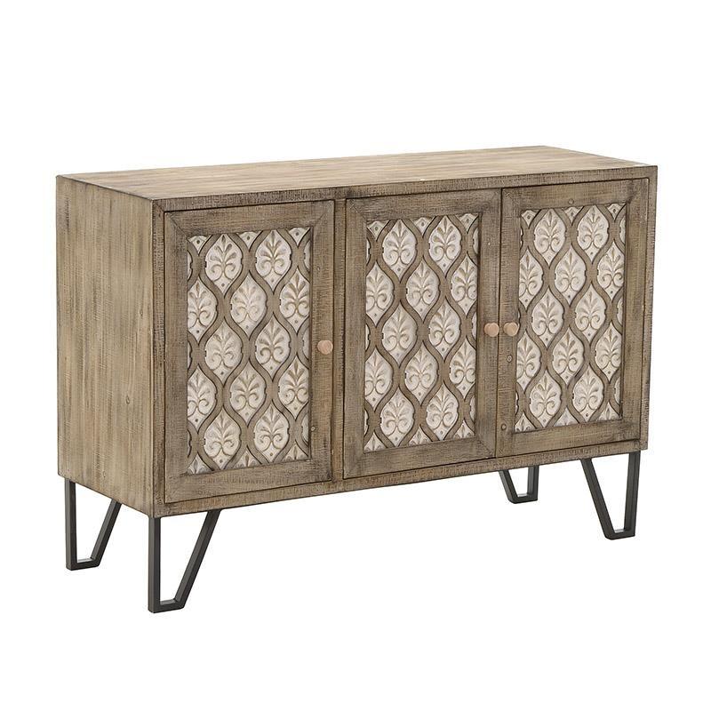 Nτουλάπι ξύλινο σε φυσικό-λευκό χρώμα 120x42x80,5