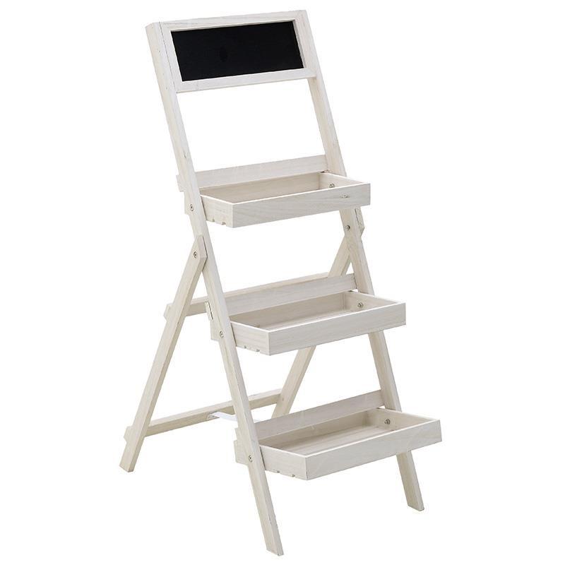 Ραφιέρα αποθήκευσης ξύλινη σε λευκό χρώμα 43x11x112