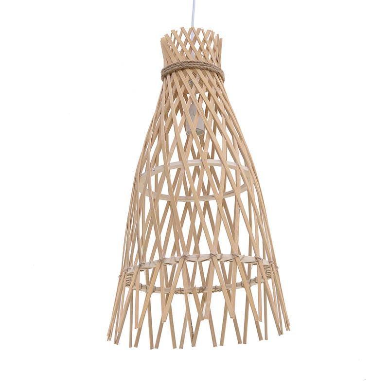Μονόφωτο φωτιστικό από ξύλο σημύδας σε φυσικό χρώμα Δ22x37