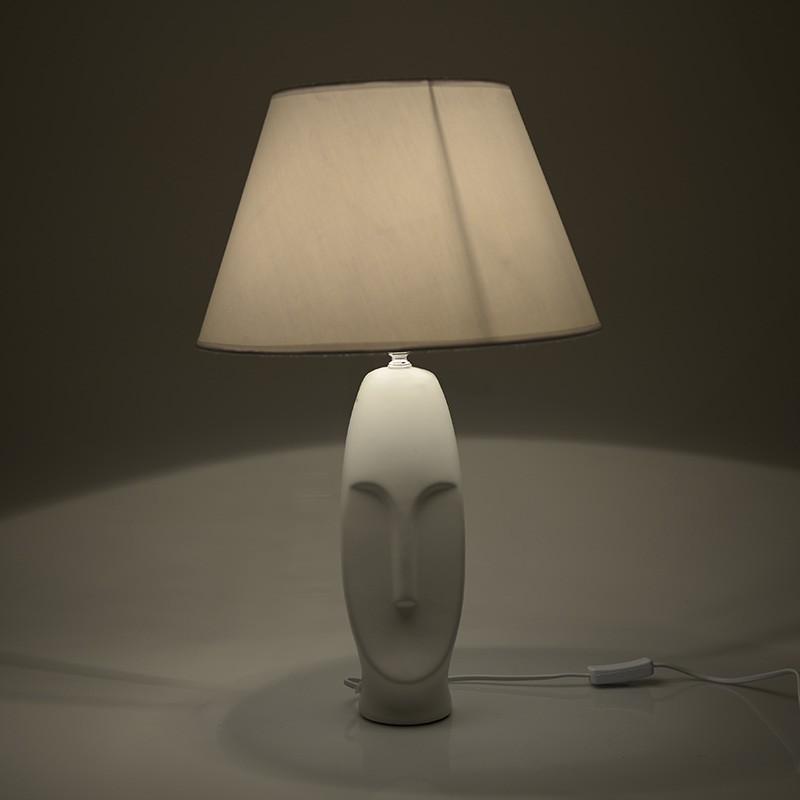 Eπιτραπέζιο φωτιστικό κεραμικό σε λευκό χρώμα Φ35x56