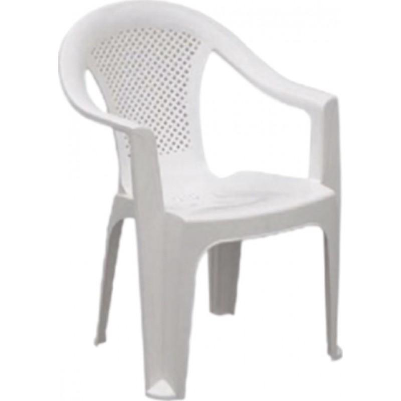 """Πολυθρόνα """"ΕΡΡΙΚΑ"""" πλαστική σε χρώμα λευκό 59x60x80"""