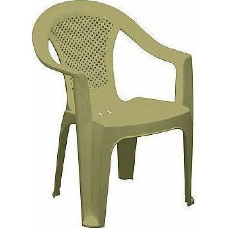 """Πολυθρόνα """"ΕΡΡΙΚΑ"""" πλαστική σε χρώμα μπεζ 59x60x80"""