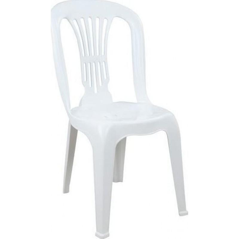 """Καρέκλα """"ΒΙΕΝΝΗ"""" πλαστική σε λευκό χρώμα 44X48X88"""