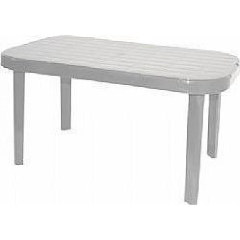 """Τραπέζι """"ΜΥΚΟΝΟΣ"""" ορθογώνιο από πλαστικό σε λευκό χρώμα 140x85"""