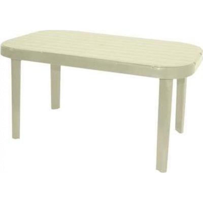 """Τραπέζι """"ΜΥΚΟΝΟΣ"""" ορθογώνιο από πλαστικό σε χρώμα μπεζ 140x85"""