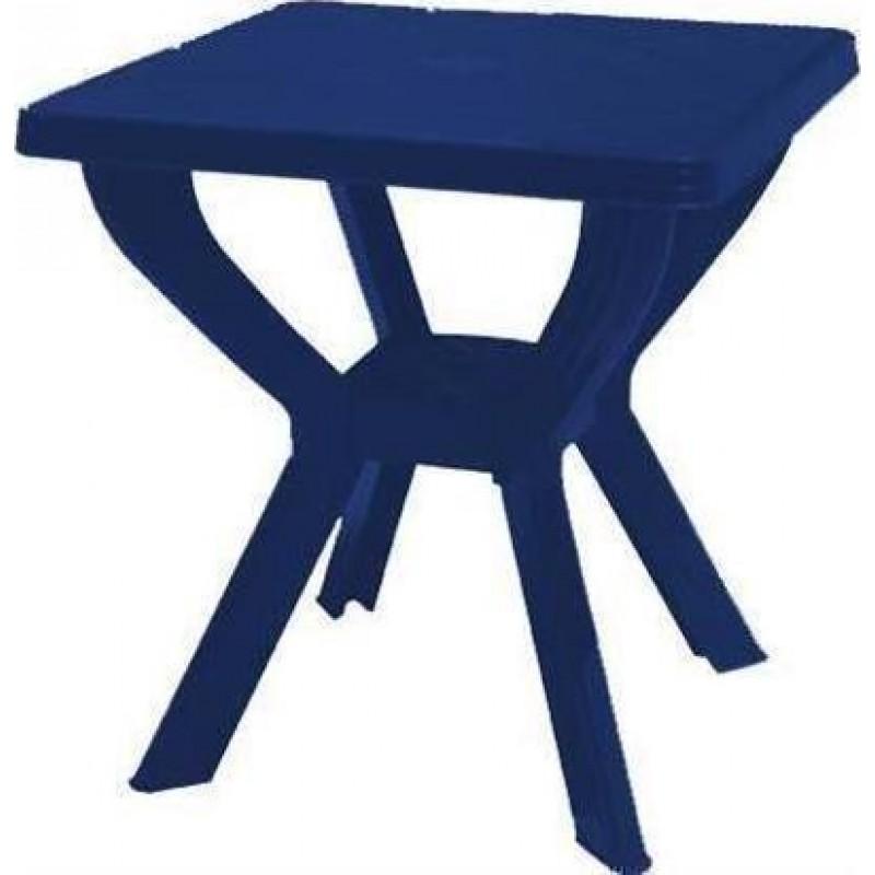 """Τραπέζι """"ΣΚΙΑΘΟΣ"""" τετράγωνο πλαστικό σε μπλε χρώμα 70x70x70"""