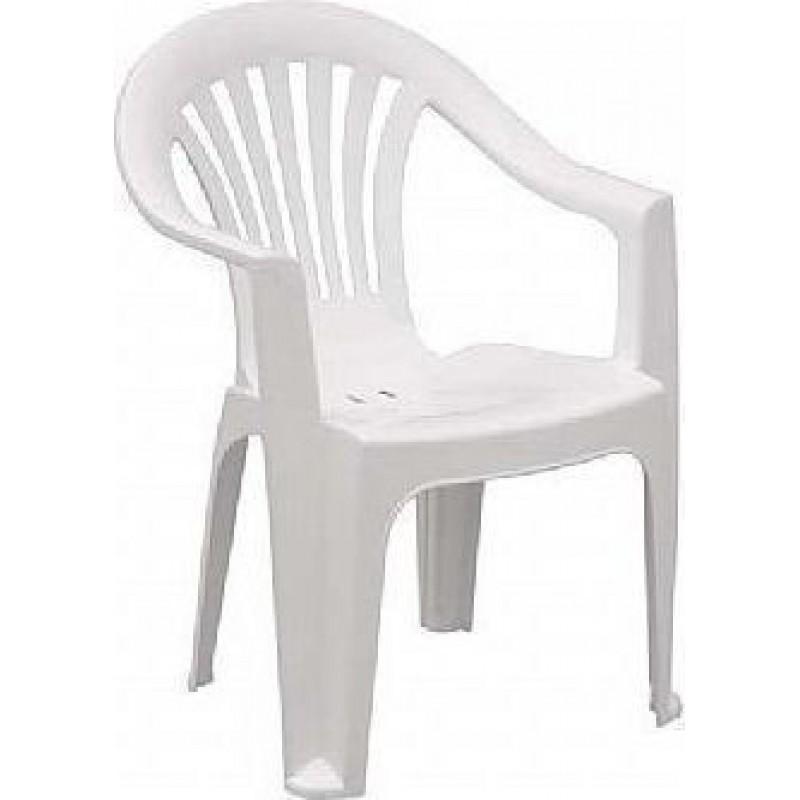 """Πολυθρόνα """"ΟΛΥΜΠΙΑ"""" πλαστική σε χρώμα λευκό 59x60x80"""