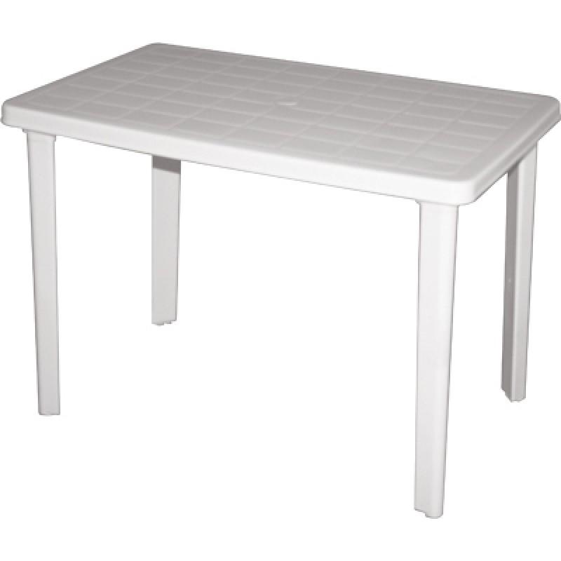 """Τραπέζι """"ΠΑΤΜΟΣ"""" πλαστικό σε λευκό χρώμα 110x70"""