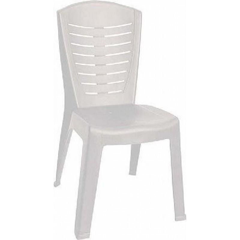 """Καρέκλα """"ΚΛΕΟΠΑΤΡΑ"""" πλαστική σε λευκό χρώμα 50x53x89"""