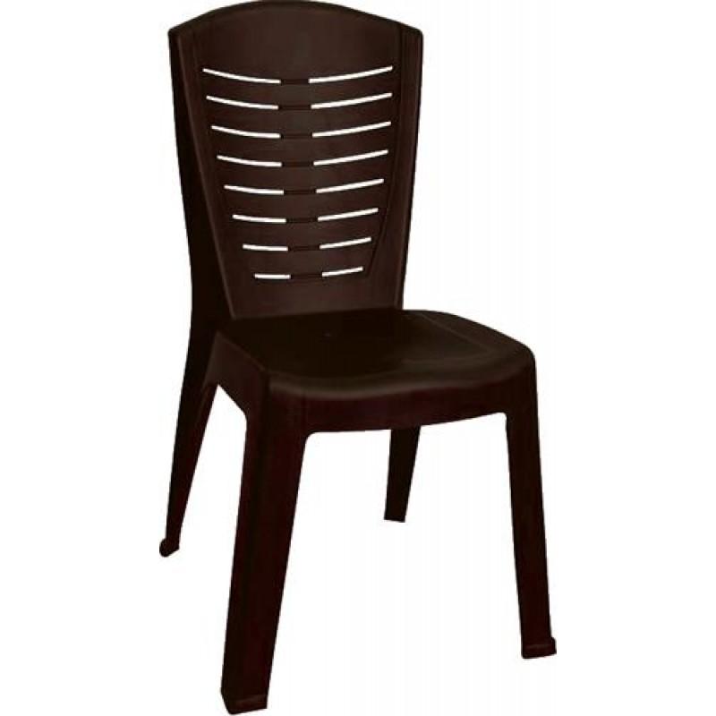 """Καρέκλα """"ΚΛΕΟΠΑΤΡΑ"""" πλαστική σε καφέ χρώμα 50x53x89"""