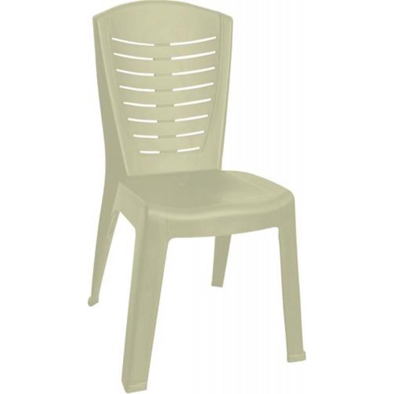 """Καρέκλα """"ΚΛΕΟΠΑΤΡΑ"""" πλαστική σε μπεζ χρώμα 50x53x89"""