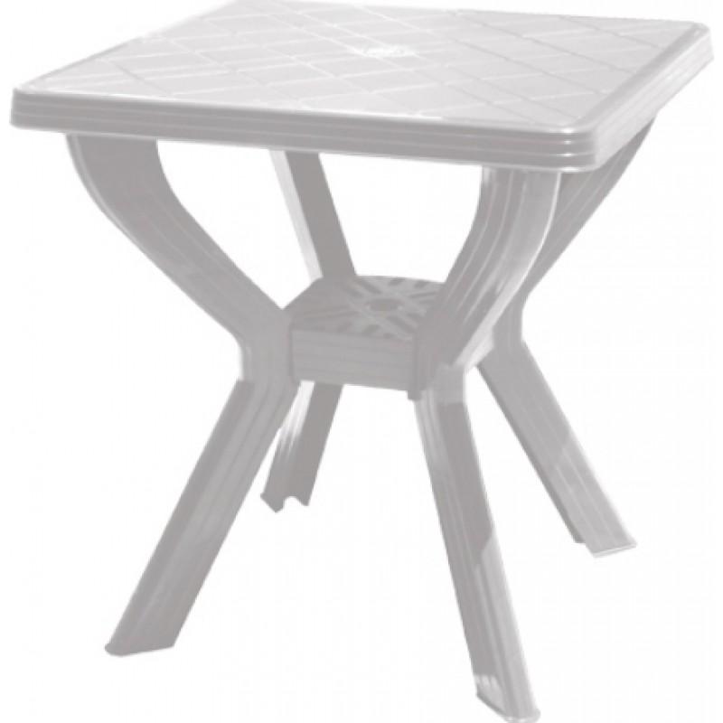 """Τραπέζι """"ΣΚΙΑΘΟΣ"""" από πλαστικό σε λευκό χρώμα 70x70"""