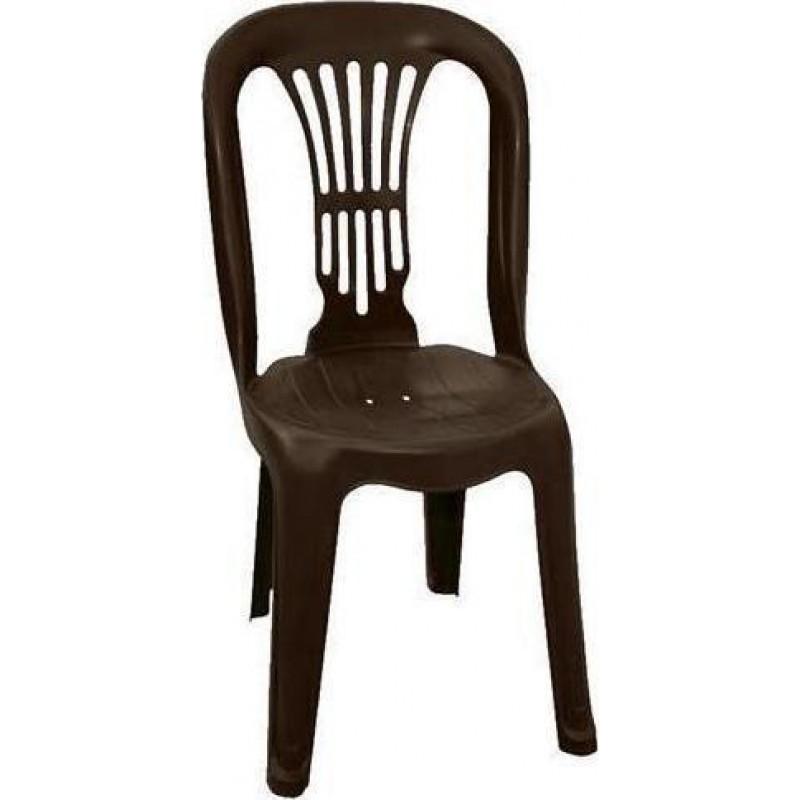 """Καρέκλα """"ΒΙΕΝΝΗ"""" πλαστική σε καφέ χρώμα 44x48x88"""