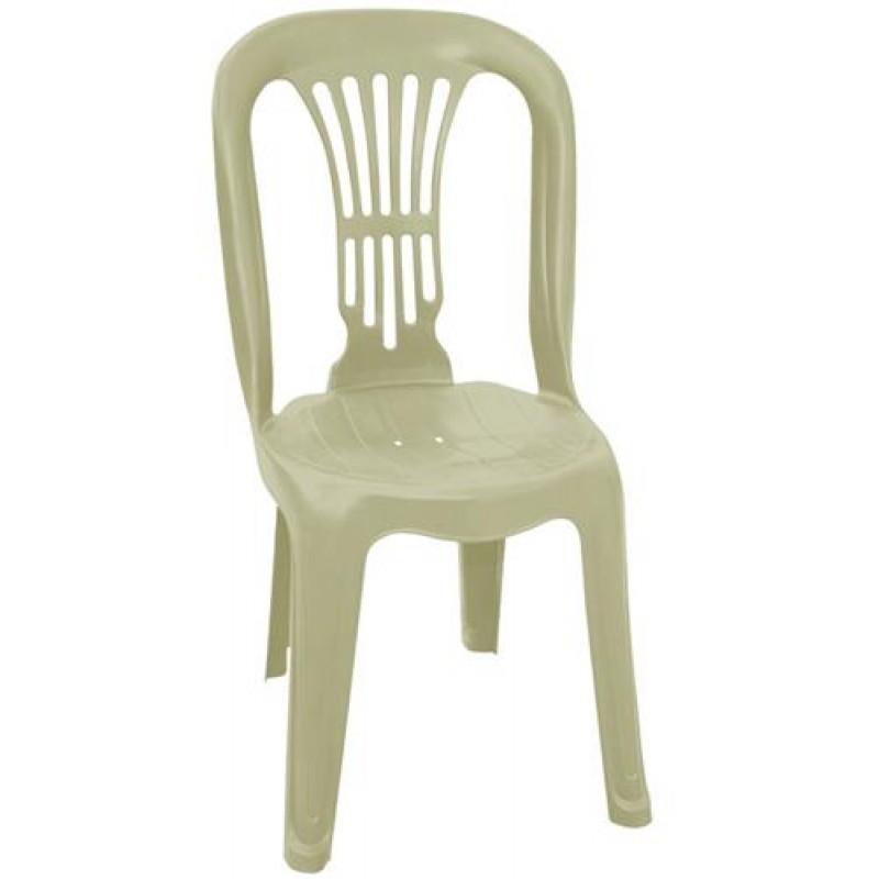 """Καρέκλα """"ΒΙΕΝΝΗ"""" πλαστική σε μπεζ χρώμα 44x48x88"""