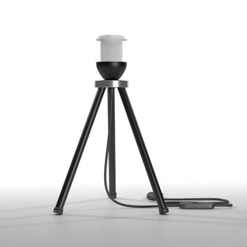 Φωτιστικό επιτραπέζιo μεταλλικό σε μαύρο χρώμα