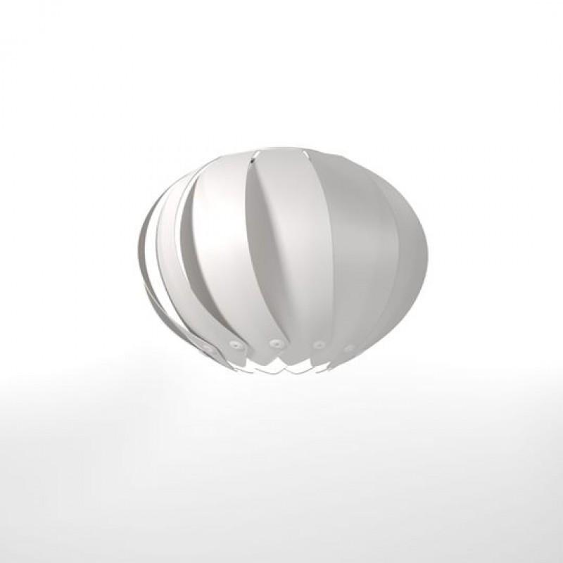 """Φωτιστικό οροφής """"PALMA"""" μονόφωτο σε χρώμα λευκό 30x30x102"""
