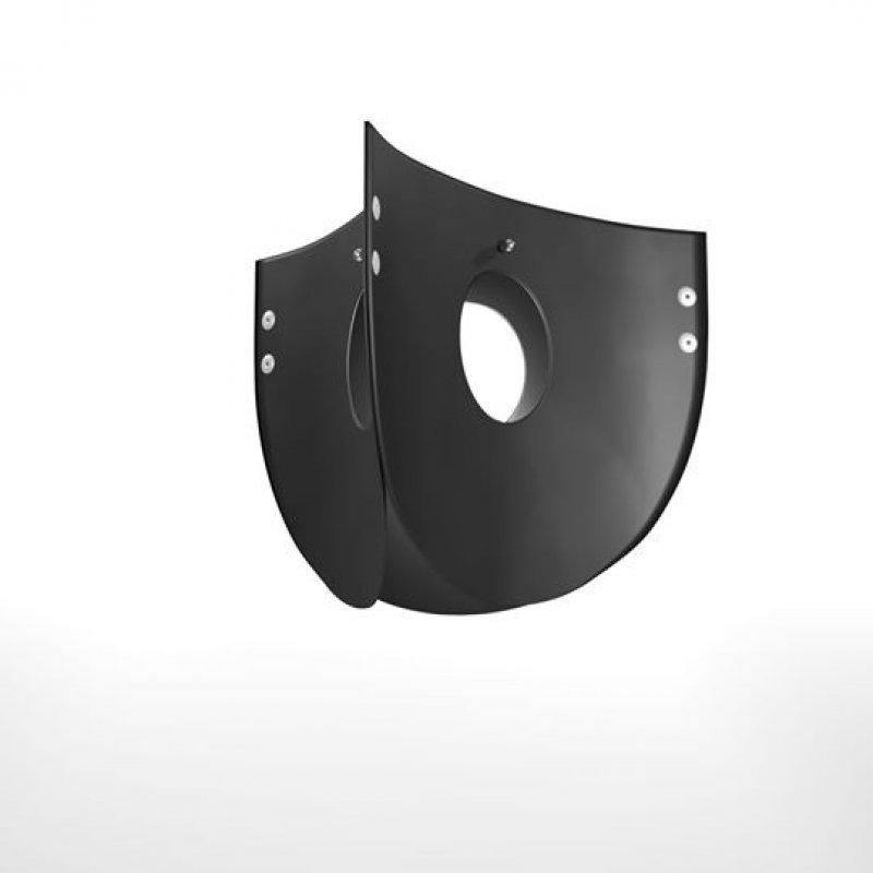 """Φωτιστικό οροφής """"CHIOS"""" μονόφωτο σε χρώμα μαύρο 48x48x109"""