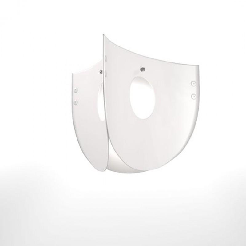 """Φωτιστικό οροφής """"CHIOS"""" μονόφωτο σε χρώμα λευκό 48x48x109"""
