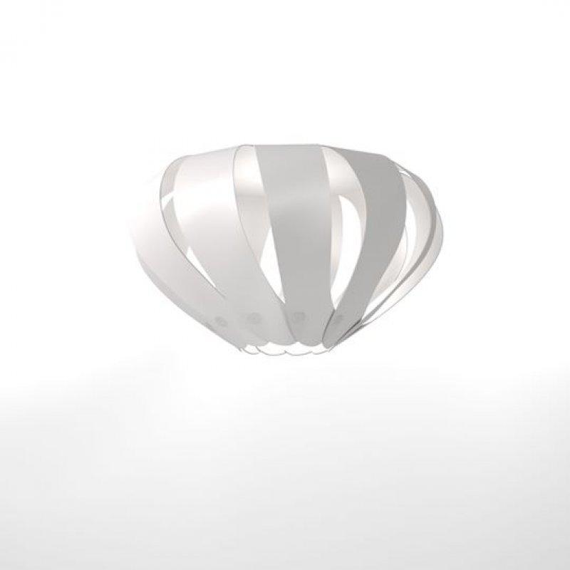 """Φωτιστικό οροφής """"CANNES"""" μονόφωτο σε λευκό χρώμα 31x31x100"""