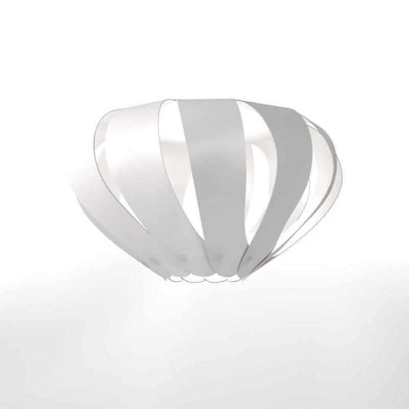 """Φωτιστικό οροφής """"CANNES"""" μονόφωρο σε λευκό χρώμα 40x40x105"""