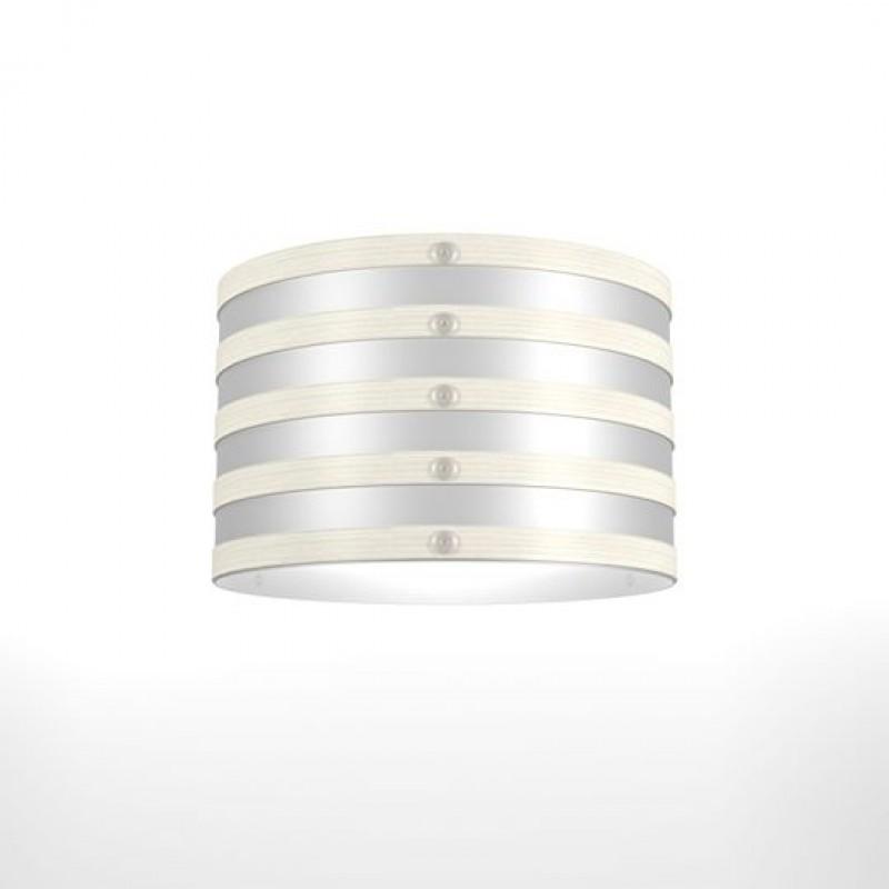 """Φωτιστικό οροφής """"MILAN"""" μονόφωτο σε χρώμα λευκό 32x32x100"""